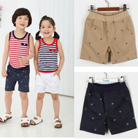 Wholesale 2015 Hot sale Summer Boys girls personality iron anchor printed shorts pants size