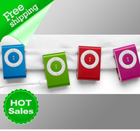 Wholesale mini clip mp3 player with card slot MP3 only colors in stock