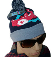 Wholesale Mix order Pink Dolphin knitted hats Beanies hat winter beanie caps cap hat