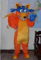 Wholesale Adult Size Dora s Friend Swiper Fox Mascot costume High Quality Party Dress zxasdf