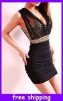 V_Neck Mini Sheath 2013 Sexy Dress short tight prom mini luxury bodycon fit satin women clothes
