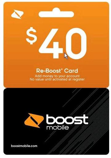 how to get sent a boost card