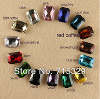 Wholesale 12PC x18MM Point back crystal rhinestone Faceted bead Glass Octagon Multiple color free shippi