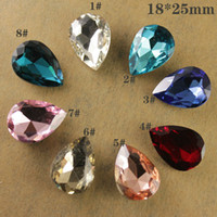 Wholesale 12pcs mm teardrop pear glass rhinestone faceted pointed back stone choose color free shippi