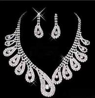 Wholesale 2013 Best Selling high quality Elegant Crystal Rhinestones Wedding Bridal Jewelry Set Tiaras Necklace Earrings shiny pearl t5100
