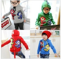 Wholesale Children dinosaur hoodies tops Sweater boys hoodies clothes girl clothes colour dandys