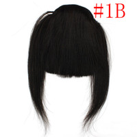 Wholesale Popular Clip in Front Inclined Bang Fringe Human Hair Extensions clip bangs