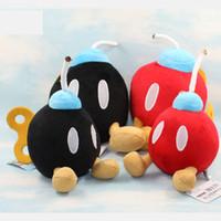 Mario  beautiful black dolls - Mario beautiful doll the bomb plush toys Plush Bros BOB OMB Cute red Black