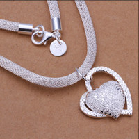 Wholesale 2013 new silver heart pendant necklace Valentine s Day gift jewelry for women