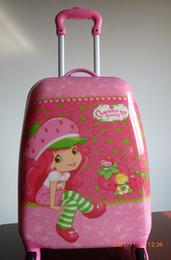 Filles valise à roulettes en Ligne-Plus populaire Filles Valises Dessinez - bar boîte roue universelle travle valise rose fraise antifraying expédition 18 pouces gratuitement