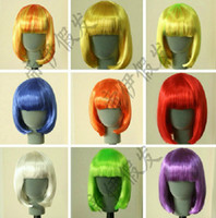 Wholesale High quality Cosplay party wig child color BOBO head A hairnet