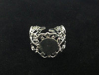 20PCS Silver Plated Adjustable Filigree Ring Blanks 18mm #22...