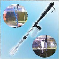 Wholesale Plastic Aquarium Battery Syphon Auto Fish Tank Vacuum Gravel Water Filter Cleaner Washer