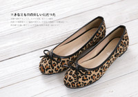Wholesale 2013 New Fashion Leopard Flat Women Shoes Ladies Fat Shoes Women Flats Summer Spring Shoes Big size eu