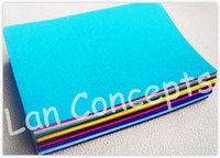 fabric polyester - DIY Polyester Felt Fabric Non woven Sheet for Craft Work Colors x300x1mm LA0074