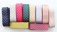 Wholesale 10 Meters Mixed colour dotted design mm satin ribbon