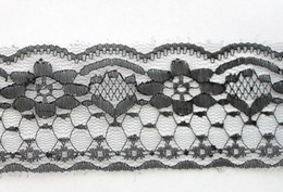 Wholesale 10 Meters Black Embroidered Net Lace Trim Ribbon mm