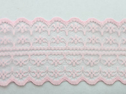 Wholesale 10 Meters Deep Pink Embroidered Net Lace Trim Ribbon mm