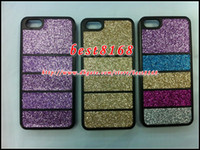 Wholesale Glitter bling sparkle podwer hard plastic cosmetic makeup strip skin cover case For iphone G S th cell phone accessories cases