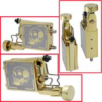 Wholesale New Style Golden Skull Motor Rotary Machine Gun Liner Shader for Tattooing Body Art Supply
