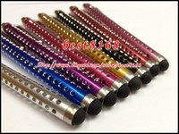 Wholesale Capacitive Touch screen pen stylus Bling wave fashion colorful for Iphone s Samsung I9220 N7000 P1000 I9500 S4 I9300 P5100