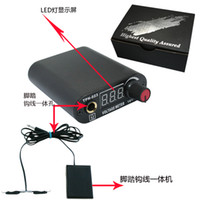 best tattoo foot pedal - Professional Black Mini LED Tattoo Power Supply Footswitch Clip Cord Best Price