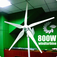 Wholesale 800w wind generator wind turbine controller kw inverter start wind speed m s blades wind turbine life span year CE ROHS
