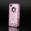Bling Aluminum Metal Chrome Hard Case Cover For Apple iPhone 4 4S 4G 6 Colors 10pcs lot Free Shipping