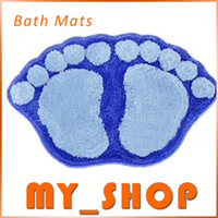 Wholesale Bath Mats Acrylic Color cm Lovely Feet Door Carpet Non Slip Free Shiping Bathroom Supplies