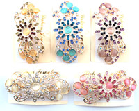 Wholesale Fashion Flower Rhinestone Hair Accessories Hair Bling Flower Hair Pin HJ116