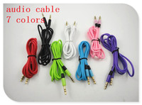 Wholesale colorful cm mm to mm audio Car Aux Extension Cable for mp3 for phone
