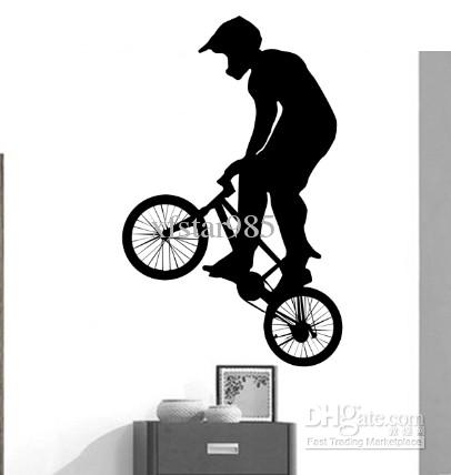 sweet life bmx bike wall tattoo diy all pictures home decor wallpaper s 02 wall decal designs. Black Bedroom Furniture Sets. Home Design Ideas