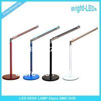 Wholesale Hight Quality Bright LEDs New LED Desk Lamp Table Lighting Toughened Glass Base USB AC V V