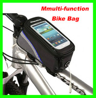 Wholesale 2013 newest Waterproof Cycling Bike Bicycle Frame Pannier Front Tube Bag For Cell Phone