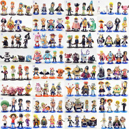 32 Sets Different Styles Anime One Piece Monkey ` D ` Luffy Ice WCF Figures Dolls Toys Model