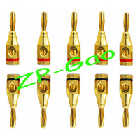 screw jack - 24K Gold Plated mm Speaker Cable Banana Plug Jack Screw Connector