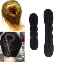 Black american hair band - 20 off Hair Band Magic Foam Sponge Hair Styling Donut Bun Maker Former French Twist Tool Foam Twist Hair Jewelry D09