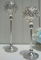 Crystal crystal candle holder - Tall Crystal Candle Holder Acrylic Crystal Table Candlesticks Wedding Centerpiece