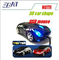 Wholesale Freeshipping Hongkong post D Car Shape Optical USB Mouse for PC Laptop Computer tablet pc