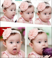 Wholesale 2013 luxury toddler infant baby girl big rose flower lace headband hairband Hair Bows Satin ribbon hair head band Prop colors hair tie
