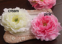 Wholesale New Arrivals Cute Dia cm quot Artificial Fabric Silk Peony Flower Head with Clip Hair Clips Flowers Headwear