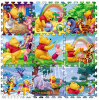 Wholesale 9 Pc per Cartoon Floor Mat Baby s Climb Blanket Eva Foam Puzzle Mat Game Carpet baby crawl mat
