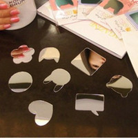 Wholesale Fashion Cute Cartoon Mirror Sticker for Cell Phone Notebook Diary Book Random Send from Micar