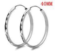 Wholesale 925 earrings Korea exaggerated silver earrings sterling silver genuine big earrings silver ear rings