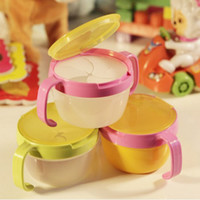 Wholesale Promotions To prevent the baby snack snacks candy spilled bowl double handle boxes of biscuits