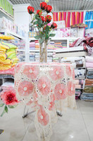 Wholesale table cloth hand woven cotton doilies elegant wallpaper white handmade Crocheted glitter