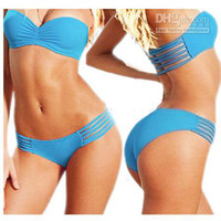 Wholesale Top Slae Sexy Bikini Lady Swimwear push up Strapless Beach Wear Bathing Suit Swimsuit color