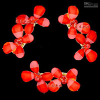 Wholesale 4 wedding accessories Bride jewelry ornaments red white hair clip hair headdress bridal accessories HW013 hd