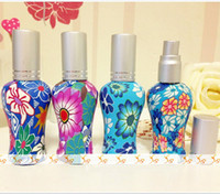 beautiful cosmetic glass - 12ml Beautiful Polymer Clay Glass Perfume Bottle Fragrance Cosmetic Container DC061
