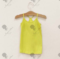 Wholesale Summer Children Tank Tops Europe and America soft purity girls gallus vest kids base shirt many colour size